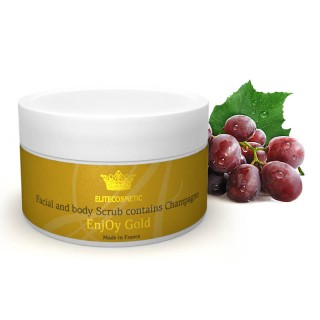 Скраб для лица и тела с ДРАГОЦЕННЫМИ компонентами «Facial and body Scrub with Champagne» 150 мл