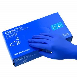 Перчатки нитриловые Nitrylex Basic темно-синие, 100шт