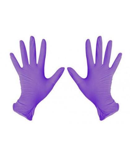 Перчатки нитриловые Medicare фиолетовые, 100шт