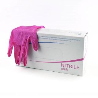 Перчатки нитриловые Polix малиновые, 100шт
