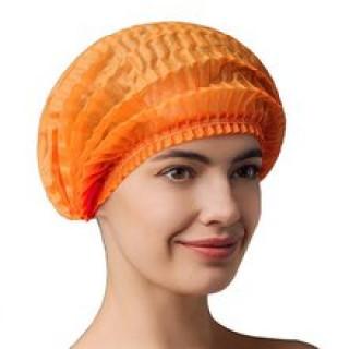 "Шапочки ""гармошка"" оранжевые, 100 шт"